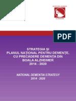 Strategia Si Planul National Pentru Demente