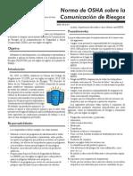 Norma de OSHA Sobre La Comunicacion de Riesgos