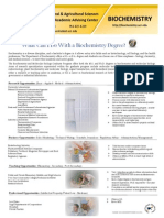 Biochemistry Degree Flyer