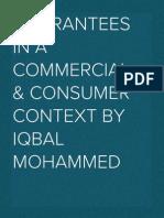Guarantees in a commercial & consumer context (2012)