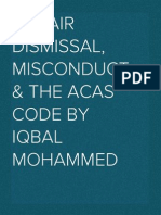 Unfair dismissal, misconduct and the Acas code (2012)