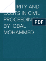 Security of costs & Costs capping orders in civil proceedings (2013)