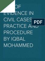 Use of evidence in in civil proceedings
