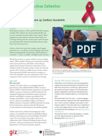 Cashing in - How cash transfers shore up Zambian households affected by HIV