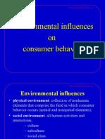 Environment Influence on consumer behaviour