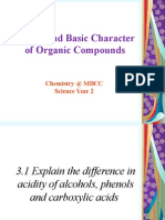 3. Acidic and Basic Character of Organic Compounds