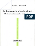 Foladori Horacio - La Intervencion Institucional
