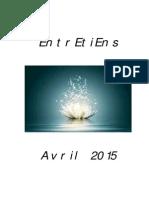 Entretiens d'Avril 2015