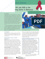Mainstreaming HIV and AIDS in the Vocational Training Sector in Botswana