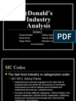 McDonald's Industry Analysis (1)