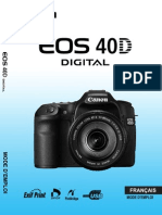 Manuel Utilisateur Canon EOS 40D
