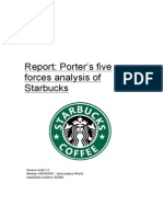 Porters five forces for starbucks