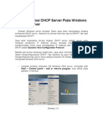 Konfigurasi DHCP Server Pada Windows 2003 Server