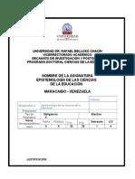 Programa de Epistemologia de Las Ciencias de La Educación Urbe Doct Cs de La Educación 4reg Sem (1)