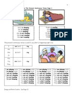 Preview ESL The Present Continuous Tense Practice Booklet