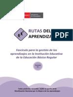 Fascículo Para Gestion de Los Aprendizajes en La I.E