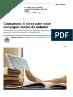 Concursos_ 5 Dicas Para Você Conseguir Tempo de Estudar - Notícias - Carreira - Administradores