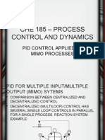 Lect. 28 CHE 185 – PID Control Applied to MIMO Processes