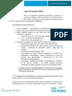 Requisitos Asignaciones de Estudio 2015