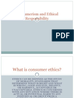 Consumerism and Ethical Responsibility
