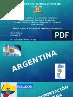 Exportación de Productos a Argentina