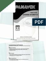 121,102 Lavarropa Panavox Twm-55ams