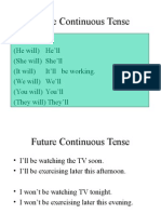 Future Continuous Tenseko