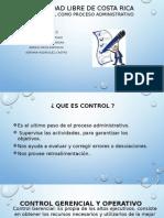 El control como proceso administrativo