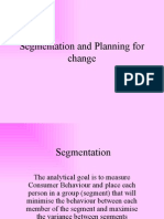 Segmentation and Planning for Change