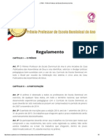 __ CPAD - Prêmio Professor de Escola Dominical Do Ano
