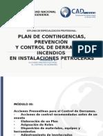 diapositiva de plan y prevención de instalaciones petrolera