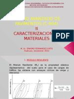 II. Caracterizacion de Los Materiales