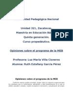 Opiniones Sobre El Programa de La MEB