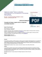 Torres Cuevas, H. y Quilaqueo Rapimán, D. - Concepto de Tiempo y de Espacio Entre Los Mapuches