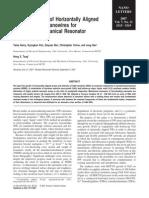 Directed Growth of Horizontally Aligned Gallium Nitride Nanowires for Nanoelectromechanical Resonator Arrays