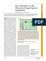 Effects of Surface Chemistry on the Generation of Reactive Oxygen Species by Copper Nanoparticles