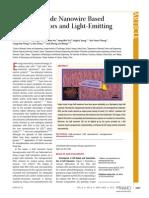 Gallium Nitride Nanowire Based Nanogenerators and Light-Emitting Diodes