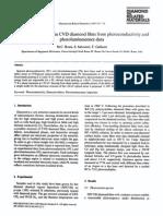 Gap Density of States in CVD Diamond Films From Photoconductivity and Photoluminescence Data
