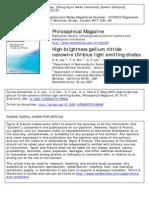 High-brightness Gallium Nitride Nanowire UV–Blue Light Emitting Diodes