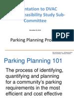 Parking Planning Process