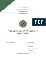 Plan Nacional de Desarrollo Ferroviario en Venezuela