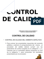 Control de Calidad de Mezclas Asfalticas