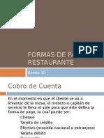 Formas de Pago en Restaurante