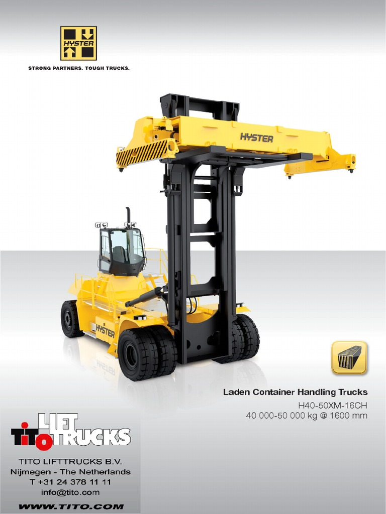 Hyster-container-handler-H40-50XM-16CH.pdf | Automatic Transmission |  Transmission (Mechanics)