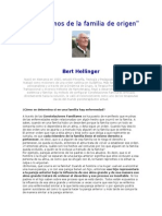 Entrevistas a Bert Hellinguer