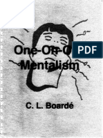 C. L. Boarde - One on One Mentalism