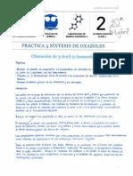 Práctica 5 Obtención de oxazoles