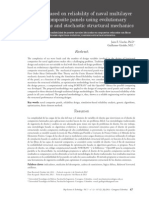 Design Based on Reliability of Naval Multilayer Fiber Composite Panels Using Evolutionary Algorithms and Stochastic Structural Mechanics