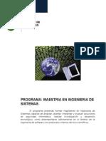DISEÑO CURRICULAR Maestria en Ingeniería de Sistemas Ver3
