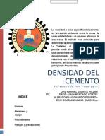 Densidad Del Cemento